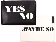 Jonathan Adler Yes No Maybe So Reversible Pouch, $58, at jonathanadler.com