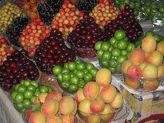 Spring Fruits in Iran  میوههای نوبر بهار