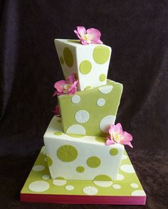 Green Whimsy Wedding Cake