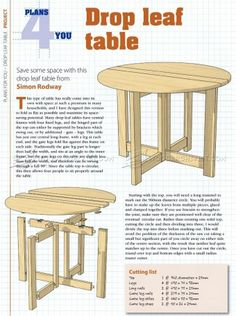 laminated drop leaf table free plans drop leaf table