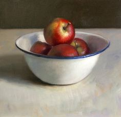 Still life with bowl of apples