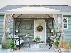 before and after backyard yard makeover | for the home | pinterest ... - Patio Canopy Ideas