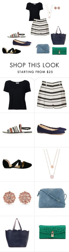 """stripey"" by classykate on Polyvore featuring Frame Denim, Dolce&Gabbana, Topshop, Chloé, Michael Kors, Carolee, The Row and Deux Lux"