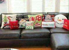 decoración navideña #almohadas