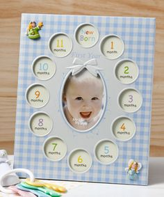 Baby Boys First Year Collage Picture Frame