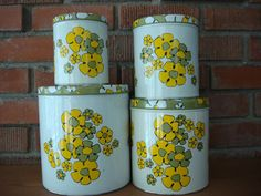Vintage Kitchen Canisters from 1960s Set of 4 by CoolFindsShoppe