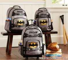 Batman™ Backpacks | Pottery Barn Kids @Carmel Allen Chavez Liberman They come in smaller sizes!!! I have a coupon code if you want it ;)