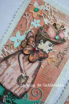 Artwork by Vilma Gasnier working with Character Constructions art stamps, Timekeeper's Garden Collection.