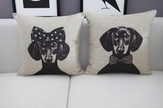 Mr/Mrs Dachshund Dog Home Cushion