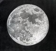 How to Draw the Moon, Step by Step, Outer Space, Landmarks & Places, FREE Online Drawing Tutorial, Added by finalprodigy, April 13, 2012, 6:24:43 pm