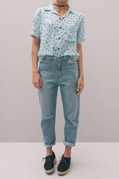 Calça 80s - Jeans Claro