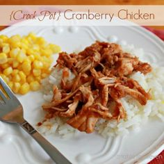 Crock Pot Cranberry Chicken • Table for Seven