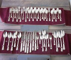 Vintage Silver Plate Flatware 51 Pieces Service for 8 by 22BayRoad, $164.00