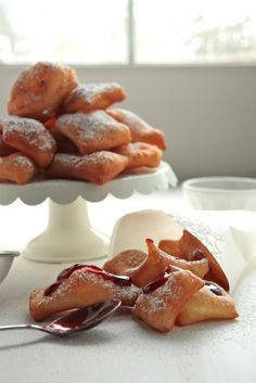 Homemade Raspberry Beignets