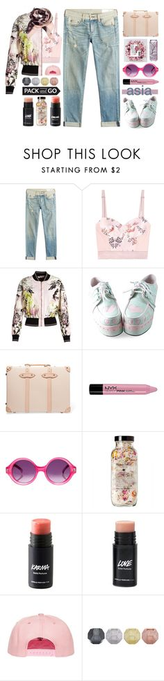 """Pack And Go: Winter Getaway"" by sinesnsingularities ❤ liked on Polyvore featuring rag & bone, STELLA McCARTNEY, Roberto Cavalli, Tai, Globe-Trotter, NYX, Quay, Tom Dixon, contest and Packandgo"