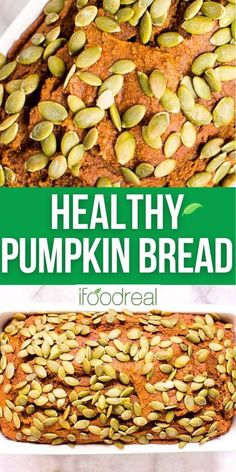 This Healthy Pumpkin Bread is naturally sweetened with honey, made with whole wheat flour and is full of warm cozy spices. It is so moist and fluffy, no one will guess it is healthy. Healthy Pumpkin Bread, Family Meals, Healthy Snacks, The Best, Snack Recipes, Clean Eating, Spices, Honey, Favorite Recipes