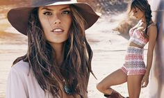 Alessandra Ambrosio models her new clothing range ale By Alessandra