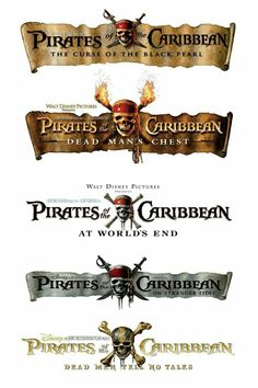 Pirates of the Caribbean: The Curse of the Black Pearl Dead Man's Chest At World's End On Stranger Tides Dead Men Tell No Tales Possibly a Film to be released Will Turner, Disney Love, Disney Magic, Disney And Dreamworks, Disney Pixar, On Stranger Tides, Disney Presents, Party Fiesta, Johny Depp
