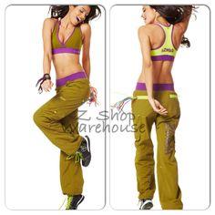 ZUMBA~2 PIECE SET! Dance SAMBA CARGOS Pants & BRA TOP RacerBack HARRODS S M  #Zumba #PantsTightsLeggings