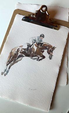 Cd Decor, Horse Sketch, Watercolor Horse, Show Jumping, Equine Art, Horse Art, Textures Patterns, Tatoos, Sculptures