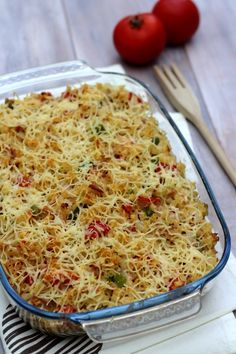 Gratin de pâtes au thon, poivron et tomates - 10SP Weight Watchers