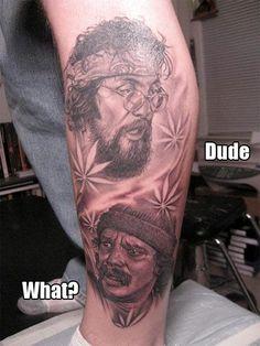 Cheech and Chong Tattoo #AWESOME!