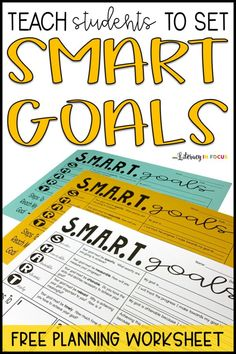 Teach students how to set SMART goals with this goal-setting worksheet. Provide students with the tools necessary for accomplishing their goals. Use a graphic organizer to help students develop and implement SMART goals. Classroom Organization, Classroom Management, Classroom Ideas, Classroom Teacher, Class Management, Google Classroom, Perth, Jet Set, Professor