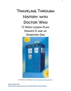 This course will help guide your 6th Grade and up student through history with that fun and interesting Time Lord we call The Doctor. Students will learn about various times in history such as Pompeii, World War II, Queen Elizabeth I, William Shakespeare and more!
