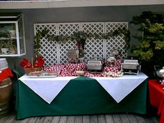 Italian Themed Party - Buffet table