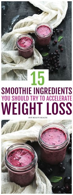 Want to power up your smoothie? Try any one (or combination) of these 15 healthy smoothie ingredients to really give your recipe a nutrition boost which will help with your weight loss goals in the new year. Plus, download a free smoothie guide mini-ebook! Hot Beauty Health #smoothierecipe #smoothieguide