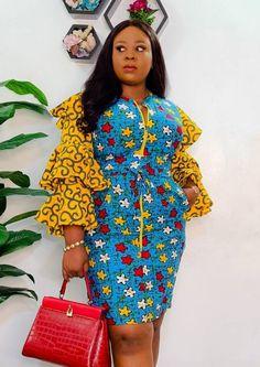 African Dresses For Kids, Latest African Fashion Dresses, African Print Dresses, Ankara Fashion, African Wear, African Women, Ankara Short Gown Styles, Ankara Gowns, Ankara Skirt