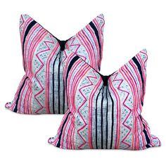 chinese hmong pillow batik tribal boho