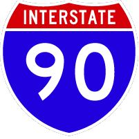 At 3,020 miles, I-90 is the longest interstate highway. It connects Seattle, Washington with Boston, Massachusetts.