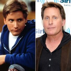 Emilio Estevez You might not know but Emilio is actor Charlie Sheen's elder brother. He worked with stars like Sean Penn, during the Celebrity Look, Celebrity Couples, Celebrity News, Then Vs Now, Stars Then And Now, Emilio Estevez, Celebrities Then And Now, Cute Stars, The Breakfast Club