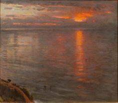 Albert Goodwin - Sunset