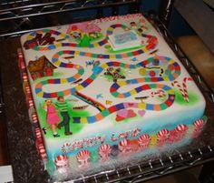 Intense candyland cake. childhood memories!