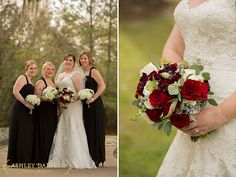 Mission San Luis Wedding | BlackBridesmaidsDresses_MissyGunnelsFlowers_Vocelles