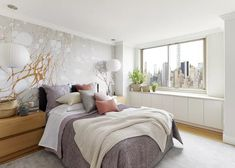 Designer Laurie Blumenfeld-Russo transforms her clients' bedroom into a beautiful, modern space that captures elements of their heritage. See some of the elements she used and shop the look here in our post.