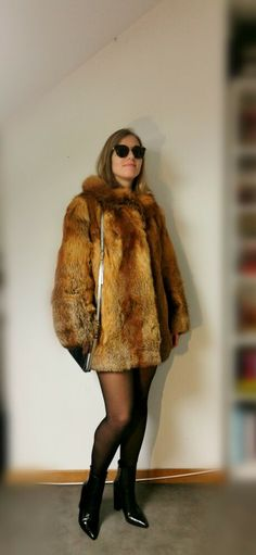 Red Fox fur Jacket. Size M/L. Fox Fur Jacket, Red Fox, Furs, Fur Coat, Nice, Jackets, Ebay, Fashion, Fur Jacket
