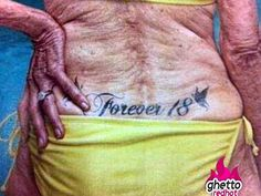No regrets? 14 old people with tattoos