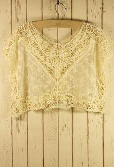 Lace Crochet Smock #Chicwish
