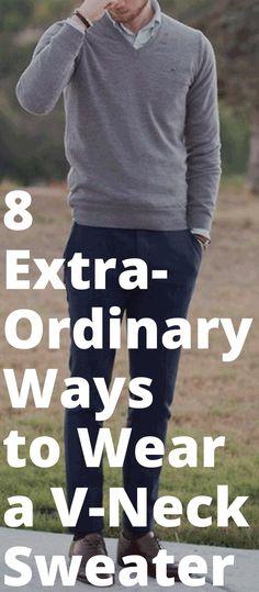 V Neck Sweater-8 Extraordinary Ways to Wear a V Neck Sweater