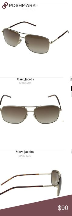 Marc Jacobs Aviator Sunglasses Marc Jacobs aviator sunglasses. Metal frame. Nwt and case. See last pic for more info. Marc Jacobs Accessories Sunglasses