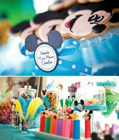 Mickey Mouse Inspired Birthday Party - The big G's would LOVE this! Mickey is their favorite ever since going to Disneyland! Mickey Mouse Bday, Theme Mickey, Mickey Mouse Clubhouse Birthday, Mickey Mouse Parties, Mickey Party, Mickey Mouse Birthday, Disney Theme, Elmo Party, Dinosaur Party