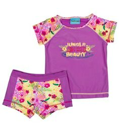 Jump N Splash Girls' Jungle Beauty S/S Rashguard Set (4-12) #swimoutlet Swimsuits 2014, Cheap Swimsuits, Sun Protective Clothing, Swim Shop, Rash Guard, Girls, Free, Clothes, Shopping