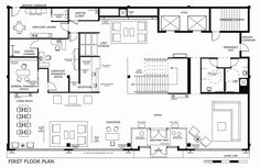 typical boutique hotel lobby floor plan - Google Search