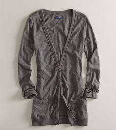 AE Lightweight Boyfriend Cardigan! Love to layer with this <3 $29.95...except this is 2 years old. A little late to the party!