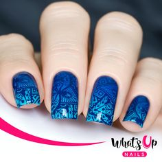 This delightful stamping plate of circular intricate mandala designs will give your manicure a gorgeous floral nails.