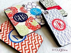 Monogrammed iPhone Cases - Personalized iPhone Cases If my phone case doesnt work out, i want you to make me one like this! Chanel Iphone Case, Iphone Accessories, Iphone 4s, Buy Iphone, Trellis Pattern, Iphone Case Covers, Ipod, Just For You, My Favorite Things