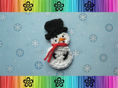 Snowman Applique - Crochet Pattern by EverLaughter